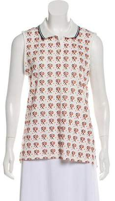 Tory Sport Patterned Sleeveless Top