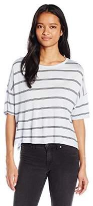 Comune Michelle By Junior's Mingus-Stripe Boxy Tee Shirt