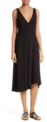 Women's Theory Tadayon B Elevate Crepe Midi Dress $365 thestylecure.com