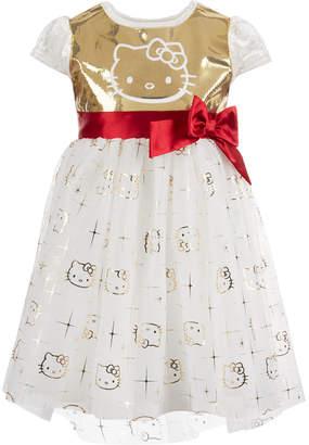 Hello Kitty Little Girls Sequin Velvet Dress