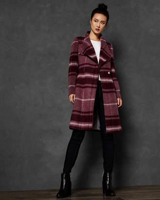 Ted Baker SKAALET Check long wrap coat