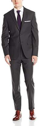 DKNY Men's Two Button Slim Fit Stretch Suit