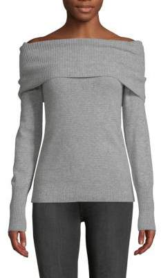 Off-The-Shoulder Cashmere Pullover