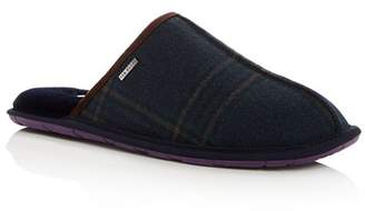 Ted Baker Men's Youngi Plaid Wool Slippers