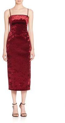 Black Halo Constance Velvet Midi Dress $525 thestylecure.com