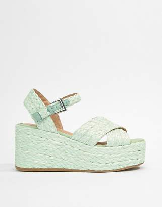 Asos Design Thierry Raffia Wedges