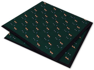 Club Room Men's Hunting Hound Silk Pocket Square, Created for Macy's