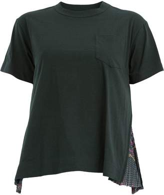 Sacai pleated detailed T-shirt