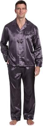 Noble Mount Mens Premium Satin Pajama Sleepwear Set 27464b1b2