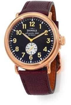 Shinola Runwell 47MM Stainless Steel& Leather Watch