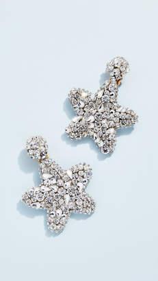 Oscar de la Renta Crystal Star Earrings