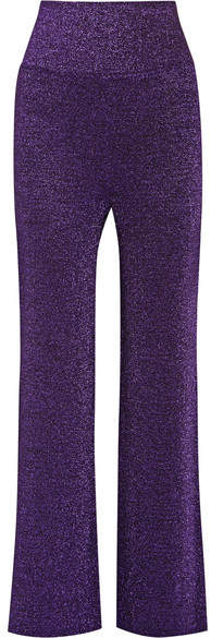 Missoni - Metallic Knitted Wide-leg Pants - Purple