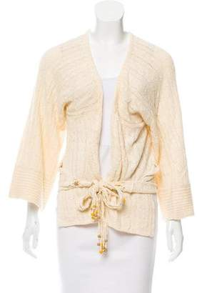 Rebecca Taylor Open Knit Open Front Cardigan