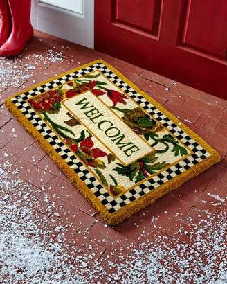 MacKenzie-Childs Everlasting Welcome Doormat