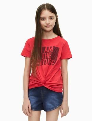 Calvin Klein girls future knot t-shirt