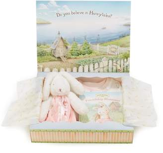 Bunnies by the Bay Blossom Sleepy Time Fitted Two-Piece Pajamas, Animal Buddy Blanket & Book Set