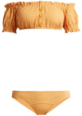 Lisa Marie Fernandez Leandra Off The Shoulder Bikini - Womens - Orange