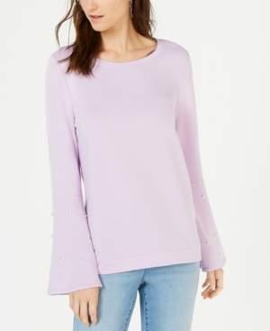 INC International Concepts I.n.c. Embellished Bell-Sleeve Sweatshirt, Created for Macy's
