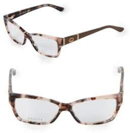 Gucci 51MM Rectangular Optical Glasses