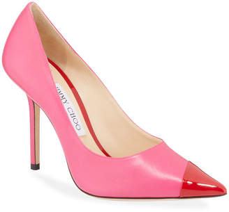 Jimmy Choo Love Asymmetric Two-Tone Pumps