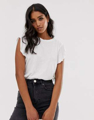 AllSaints darno waterfall sleeve t-shirt