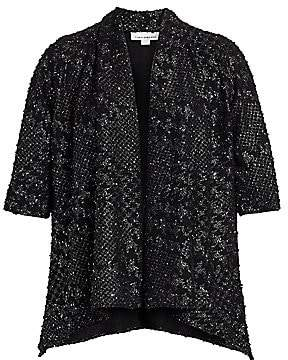 Caroline Rose Caroline Rose, Plus Size Women's Showtime Check Me Out Cardigan