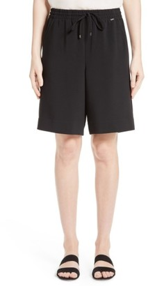 Women's St. John Collection Soft Drape Suiting Shorts $395 thestylecure.com