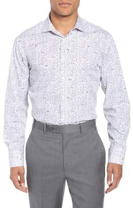 John W. Nordstrom R) Trim Fit Floral Dress Shirt