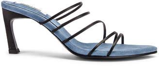 Reike Nen Strings Pointed Heels in Black & Water Blue | FWRD