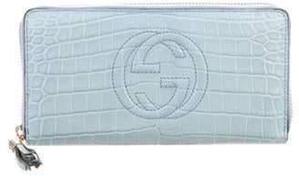 Gucci Crocodile Soho Wallet blue Crocodile Soho Wallet
