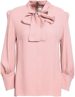 Goat Pussy-bow Crepe Blouse