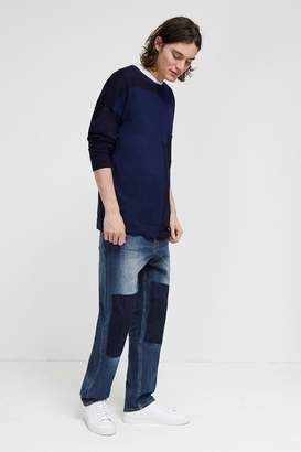 French Connenction Track Denim Loose Tapered Jeans
