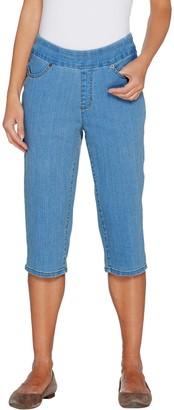 Denim & Co. Petite Perfect Denim Smooth Waist Pedal Pusher Jeans