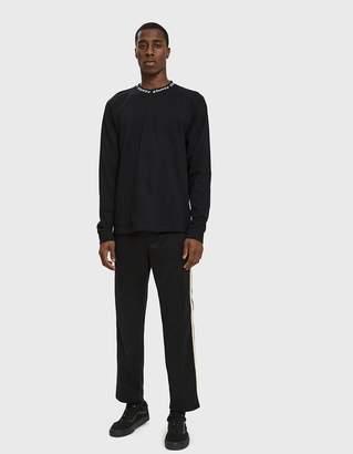 Stussy Textured Rib Track Pant in Black