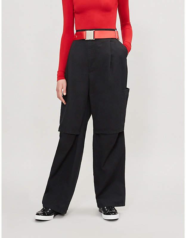 Ambush Nobo cotton and linen-blend trousers