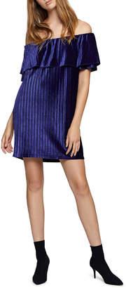 Sanctuary Zodiac Velvet Off-The-Shoulder Dress