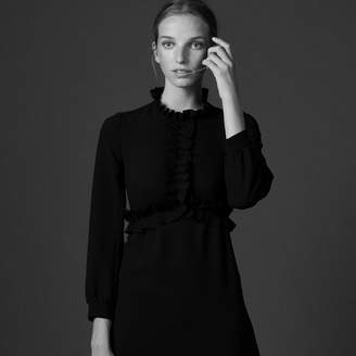 Sandro Sleeved dress with gathered details