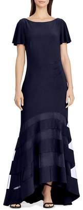 Ralph Lauren Illusion Jersey Gown