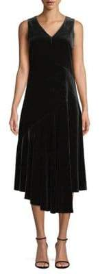 Lafayette 148 New York Ashlena Velvet A-Line Dress
