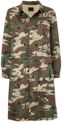 Hysteric Glamour camo print coat