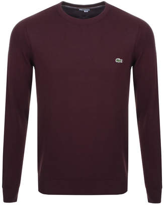 Lacoste Crew Neck Knit Jumper Brown