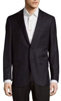 Isaia Pinstripe Wool Jacket