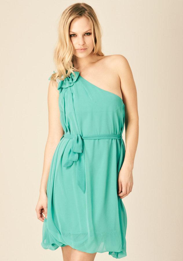 Aqua Winona Beaded Dress
