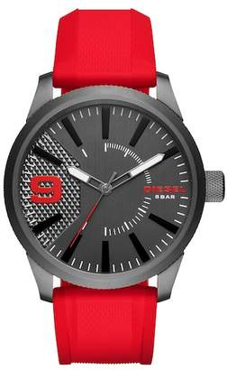 Diesel Men's Rasp Silicone Strap Watch, 46mm
