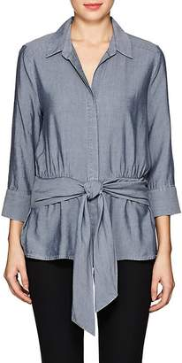 L'Agence WOMEN'S COLETTE CHAMBRAY TIE-FRONT SHIRT