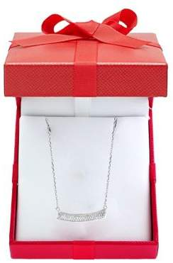 Effy 925 Sterling Silver & Diamond Bar Necklace