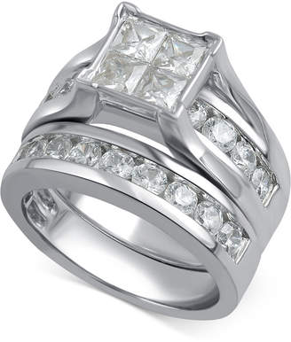 Macy's Diamond Channel-Set Bridal Set (3 ct. t.w.) in 14k White Gold