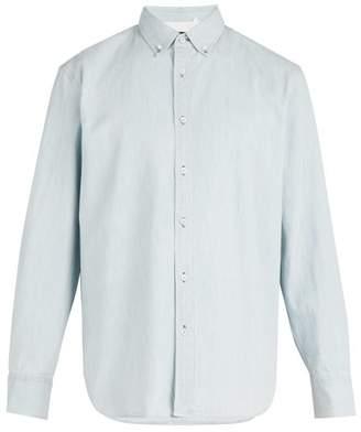 Rag & Bone Bleached Denim Shirt - Mens - Blue