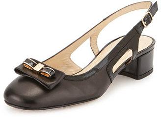 Sesto Meucci Doreen Slingback Bow Pump, Black $225 thestylecure.com