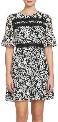 CeCe Alayna Floral Fit & Flare Dress